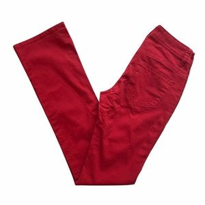 Christopher Blue Red Flare Jeans Sz 0